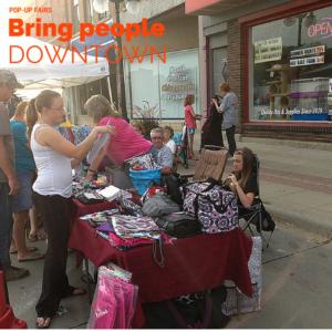 Pop-Ups bring people downtown